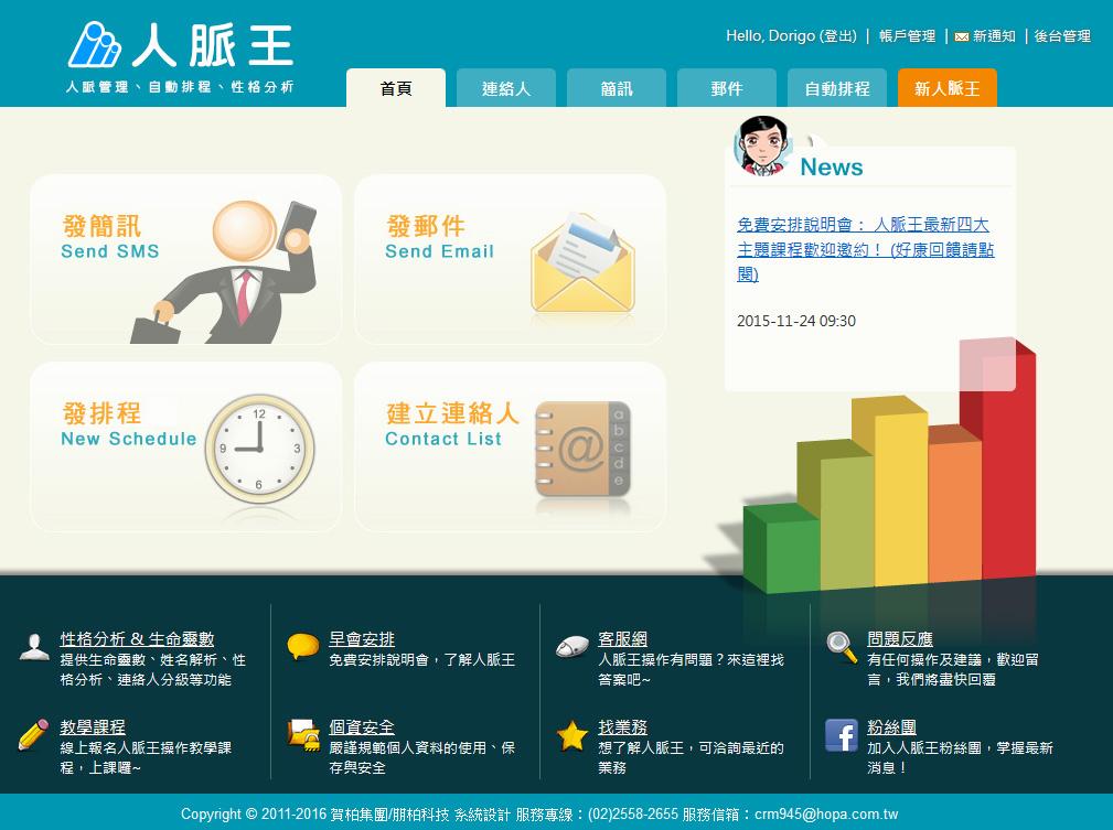 CRM 網站版型設計