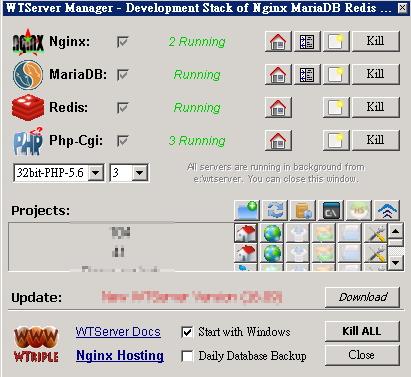 WinNMP(WTserver)安裝設定教學 (Nginx)