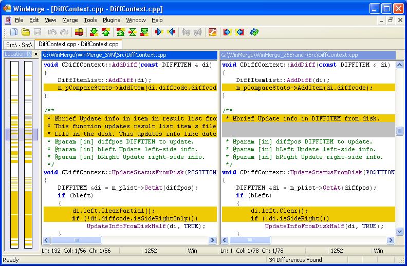 WinMerge 兩份文件比對軟體