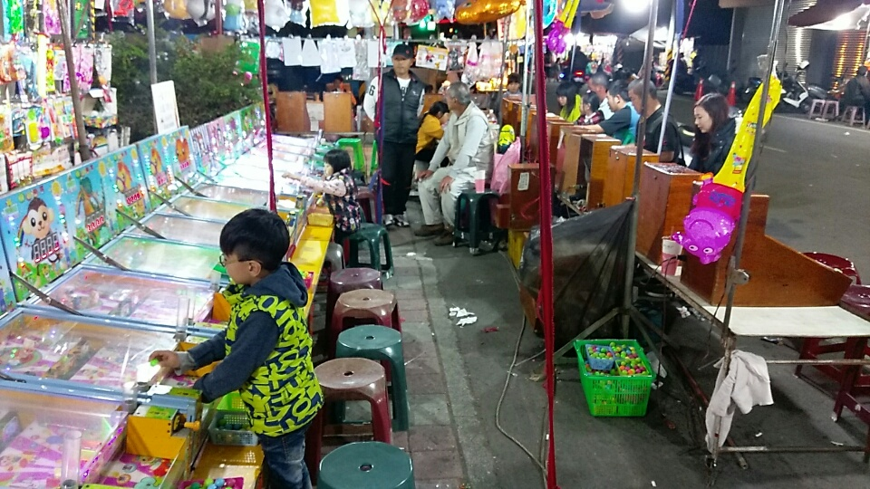 台南東山夜市之彈珠擂台