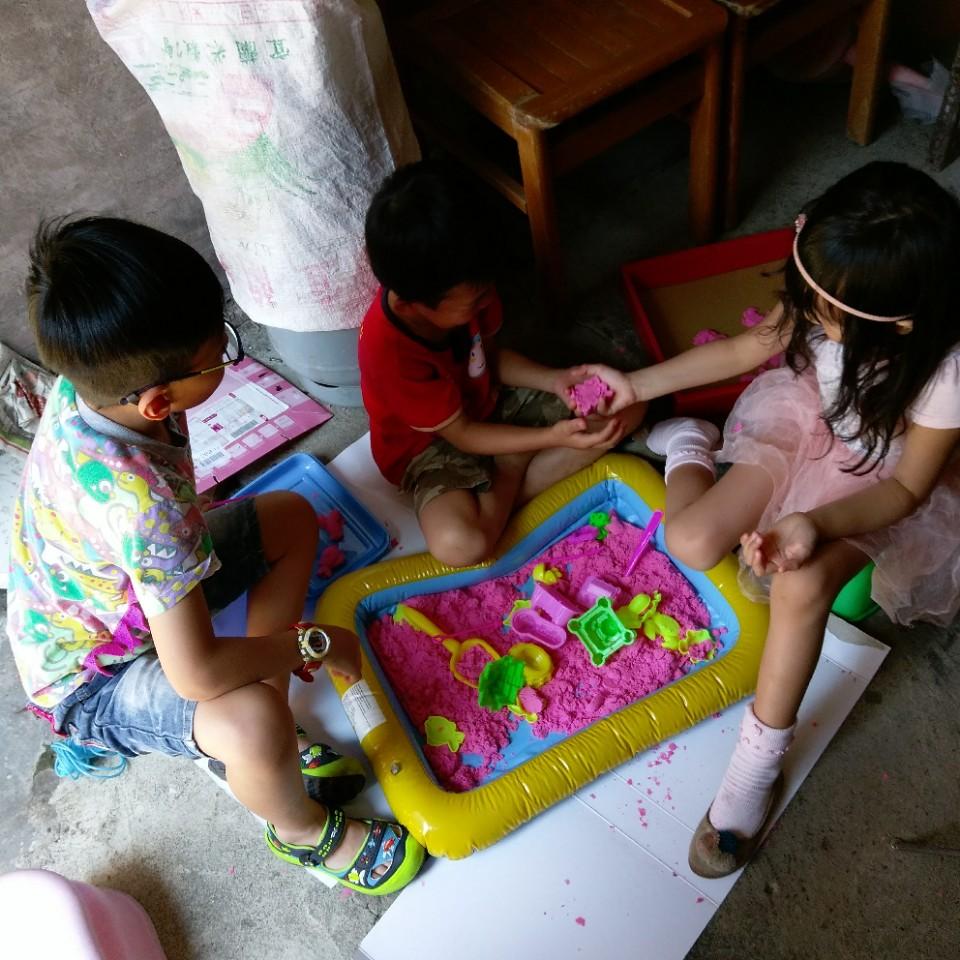 帶室內沙桶玩具回宜蘭玩