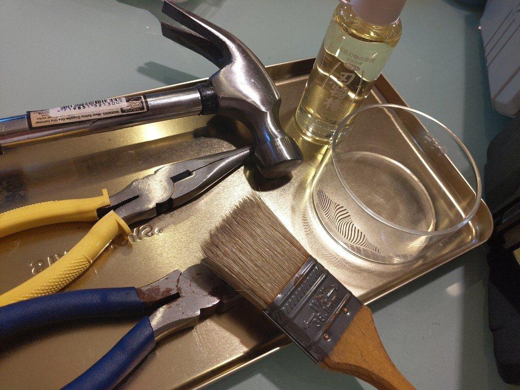 尖嘴鉗斜口鉗等工具保養 我都用刃物樁油